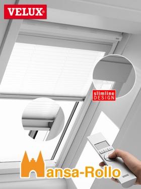 original velux plissee faltstore elektro f r ggl ghl gpl gtl fml. Black Bedroom Furniture Sets. Home Design Ideas