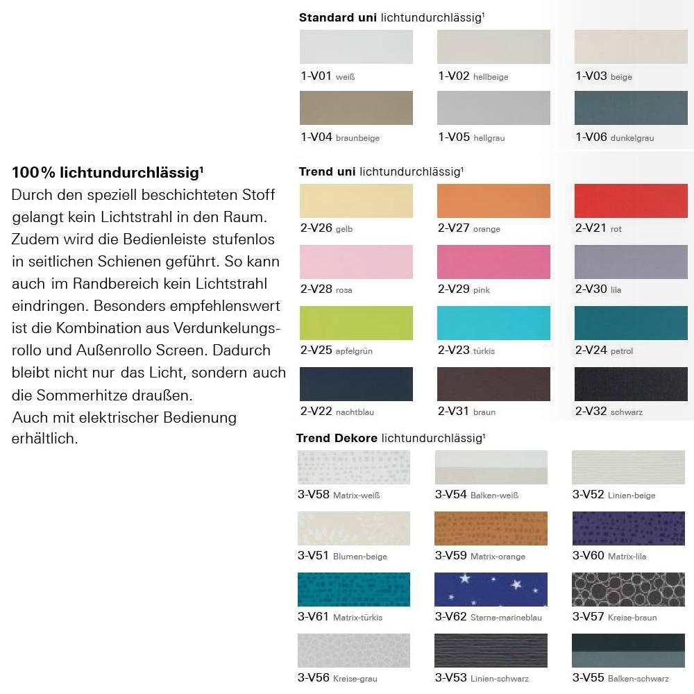 Kunststofffenster hellgrau  Original Roto Verdunkelungsrollo manuell für Baureihe R4, R7, 735 ...
