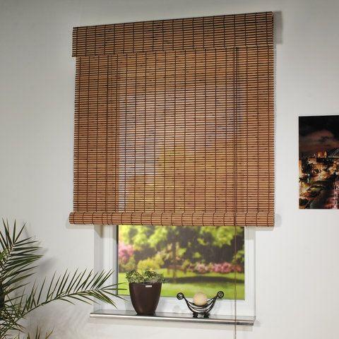 standard holzrollo mit seitenzug h he 170. Black Bedroom Furniture Sets. Home Design Ideas