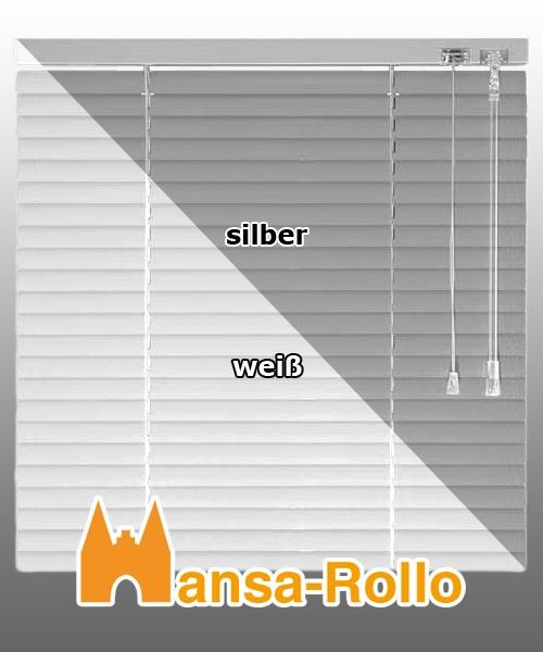 Höhe 110 cm weiß Alu Jalousie Aluminium Jalousette Fenster Jalusie Schalusie