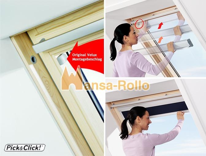 Sichtschutzrollo Schiene Dachfensterrollo für Velux GGU//GPU//GHU weinrot